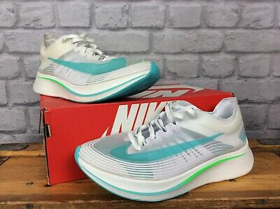 Nike Mens Uk 8 Eur 42.5 White Green Zoom Fly Sp Running Trainers