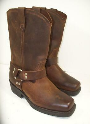 f3074b156ab MEN'S CODY JAMES Brown Distressed Leather Harness Boots 12 M ...