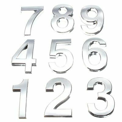 Plastic Self Adhesive Silver Door Number House Number 0-9 Available Sticker Sign