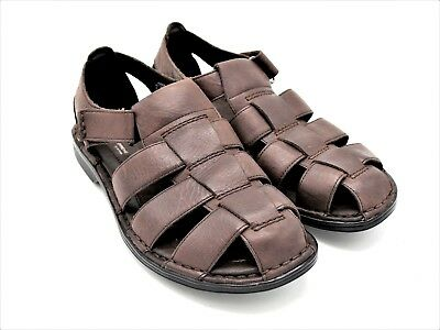3469e2998e46 BORN SURF MEN S US Size 8 Black Leather Fisherman Buckle Sandals New ...
