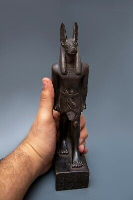 EGYPTIAN ANUBIS STATUE Antique GODS Jackal Dog EGYPT, Goddesses Carved, Stone