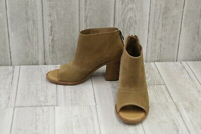 a2893eac3df UGG AUSTRALIA GINGER Suede Open Toe Booties, Women's Size 6, Chestnut NEW