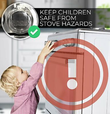 NEW Clear Stove Knob Covers Large Universal Child Safety Guards Jool Baby 5 Pack