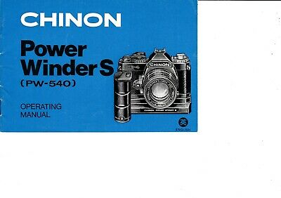Genuine Original Chinon Power Winder S (Pw-540) Manual
