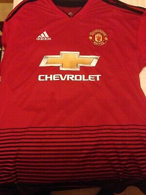Manchester United Home Shirt 2018/19 Brand New With Tags Adult Size L