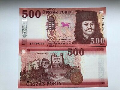 Hungarian Banknote 500 HUF Forint 500Ft Hungary 2018 GEM UNC CU Uncirculated