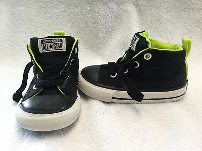 411e8bd7f03d Converse All Star Chuck Taylor Toddler Boys Black yellow Hightop Shoes-size  5 C