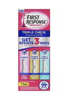 First Response Pregnancy Triple Check 3 Test Kit EXP 02/20 Early Rapid Digital