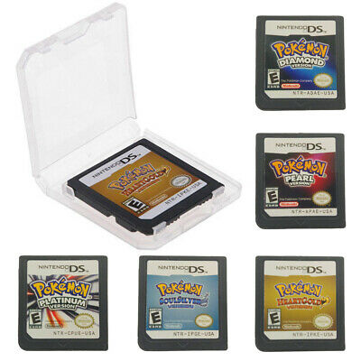 Pokemon HeartGold / SoulSilver Version Game Card Fits To Nintendo 3DS NDSI NDS