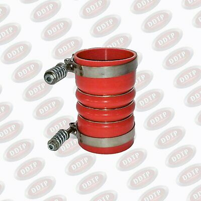 """Silicone Hose 4"""" X 6.5"""" Hot Exhaust Charge Air Cooler With Clamps (Freightliner)"""