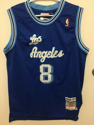 3c348b7b86f Kobe Bryant #8 Los Angeles Lakers Vintage Blue Throwback Men's Jersey
