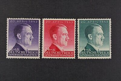 1943 MNH** German Occupation Stamps- Poland. General Government. A.Hitler