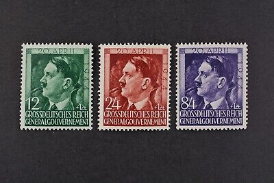 1944 MNH** German Occupation Stamps- Poland. General Government. A.Hitler