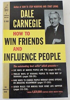 How to Win Friends and Influence People by Dale Carnegie ( Paperback) 1962 NOS
