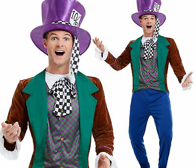 Adults Mens Mad Hatter Stag Party Fancy Dress Costume Accessory Poker Ace Hat