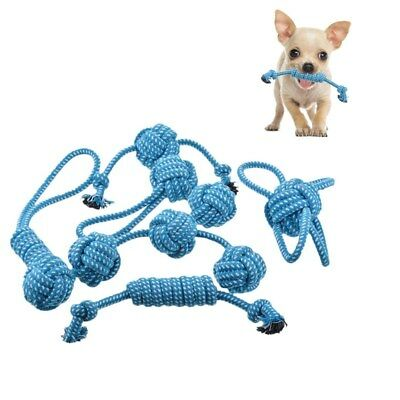 be8b25446fb Braided Cotton Rope Pet Dog Interactive Toys Chews Bite Molar Training Play  US
