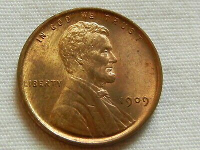1909 VDB lincoln wheat cent penny one cent copper coin uncirculated nice