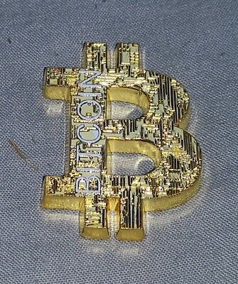 BitCoin B Symbol Coin Gold Silver Crypto Currency Computer Mining Digital Chain
