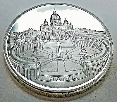 Pope John Paul II Silver Coin Vatican City Man Spirituality Holy Ghost Priest U
