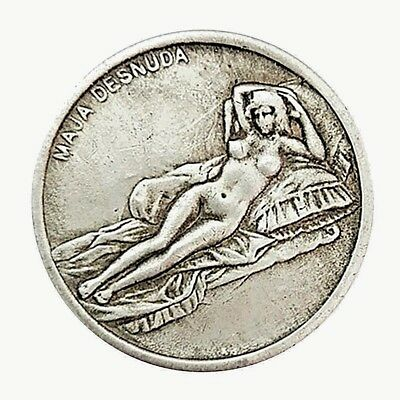 Da Vinci Silver Coin Leonardo Code Naked Lady Painting 1452 1519 Art Vatican Old