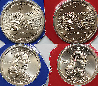 2010 P and D Sacagawea Dollar BU 2 Coins from US Mint Set Native American UNC