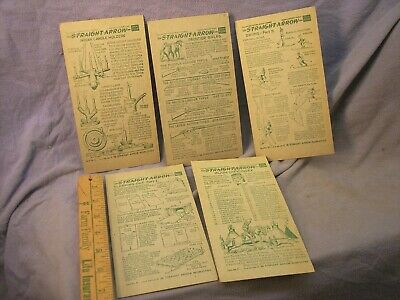 """1952 Nabisco Straight Arrow (5) Indian Crafts Cards 4X7"""" Book 4 #2,4,12,29,35"""
