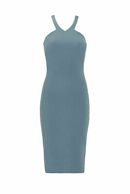 2690acd0 Elizabeth and James Blue Gray Women's Size 6 Halter Sheath Dress $365- #348