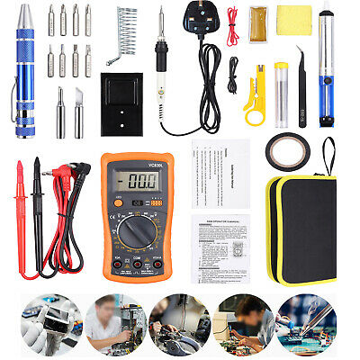 Digital Multimeter Tester TRMS 6000 Count auto-ranging AC/DC Voltage &5 Leads UK