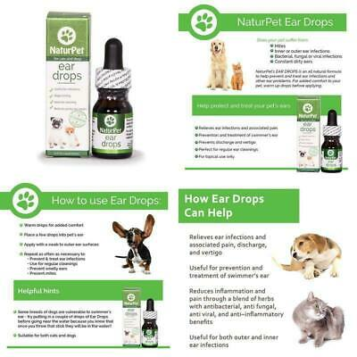 NaturPet Ear Drops | Natural Ear Infection Medicine For Dogs | Ear Mites Cats |