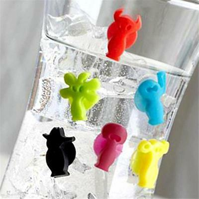 12PCS Silicone Cup Wine Glass Markers Labels Glasses Marker Drinking YO