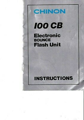 Genuine Original Chinon Camera 100Cb Electronic Bounce Flash Unit Manual