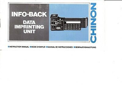 Genuine Original Chinon Camera Info Back Data Printing  Unit Manual