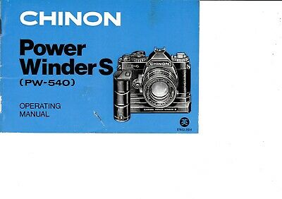 Genuine Original Chinon Camera Power Winder S (Pw-540) Manual