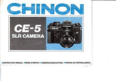 Genuine Original Chinon Cg-5 Camera  Manual