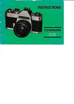 Genuine Original Chinon Cs Camera  Manual