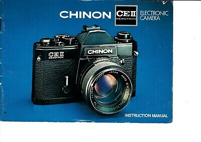 Genuine Original Chinon Ceii Memotron Camera  Manual