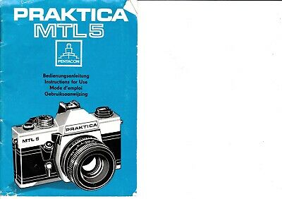 Genuine Original Praktica  Mtl5 Camera Operating Instructions Manual
