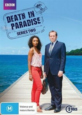 MINT As NEW Death in Paradise Series 2 DVD (Region 4) 3 Disc BBC UK