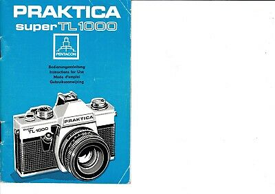 Genuine Original Praktica  Super Tl 1000 Camera Operating Instructions Manual
