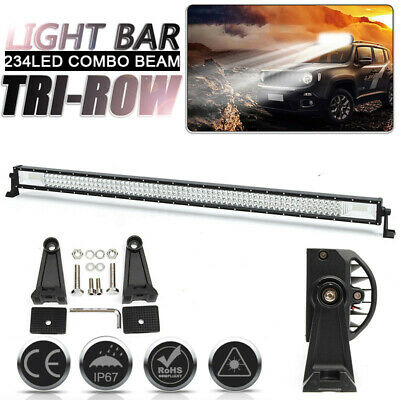 52 Inch 1000W LED Work Light Bar Flood Spot Driving Lamp Offroad Truck Boat