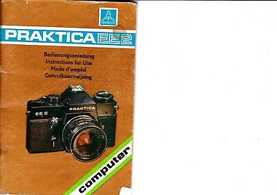 Genuine Original Praktica  Ee2 Computer Camera Operating Instruction Manual