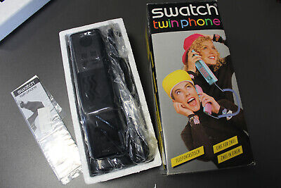 HE2) SWATCH Twin Phone Black Domino III TXB 201