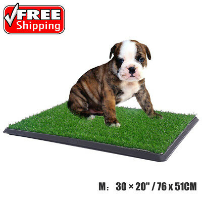 "Indoor Pet Potty Dog Puppy Pee Toilet Trainer Grass Mat Patch Pad Tray 30×20"" US"