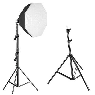 Video Kit Iluminación Bombilla 85W con Octágono Softbox y 190cm 224cm Stand