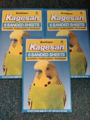 Tydisan Sanded Caged Bird Sheets Sand Bedding 4 Sizes Cage Hygiene Cut To Size Other Bird Supplies