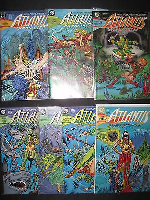 ATLANTIS CHRONICLES : COMPLETE 7  ISSUE DC 1990 AQUAMAN SERIES by DAVID & MOROTO