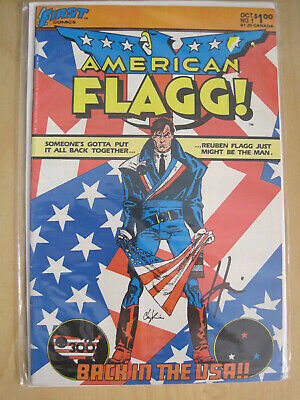AMERICAN FLAGG : COMPLETE 50 ISSUE 1983 CLASSIC ADULT SERIES +1 by CHAYKIN.FIRST