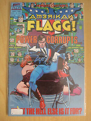AMERICAN FLAGG : COMPLETE 12 ISSUE 1988 CLASSIC ADULT SERIES by CHAYKIN. FIRST