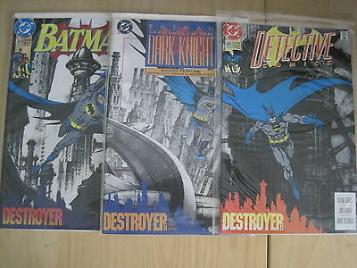 """Batman  : """"Destroyer"""" : Complete 3 Issue Cross-Titles Story. Dc. 1992"""