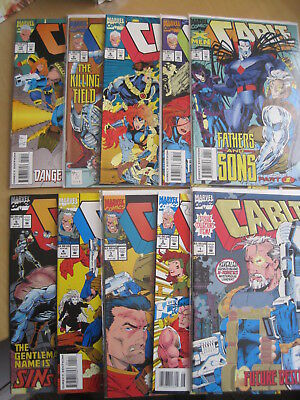 CABLE complete run issues 1-10 of MARVEL 1993 SERIES.#1 FOIL CVR.NICIEZA,THIBERT